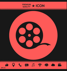 Reel film symbol vector