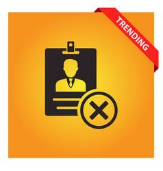 Remove id card icon vector