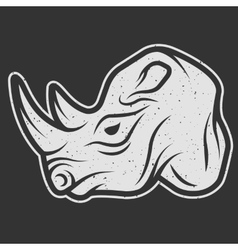 Rhino symbol logo for dark background vector image