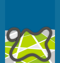 Road design on green land vector