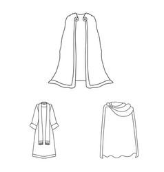 Robe and garment symbol vector