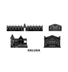 russia kaluga flat travel skyline set russia vector image