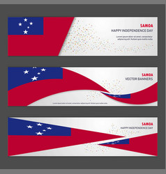 Samoa independence day abstract background design vector
