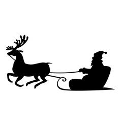 santa deer4 vector image