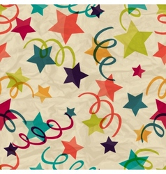 Seamless pattern with stars and serpentine on vector image