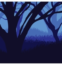 Silhouette of the forest vector image
