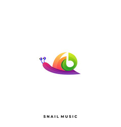 snail music template vector image