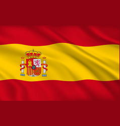 spanish flag spain country national identity vector image