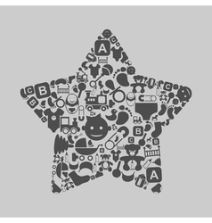 Star a family vector image