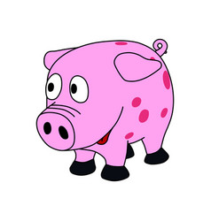 Sweet little pink piggy vector