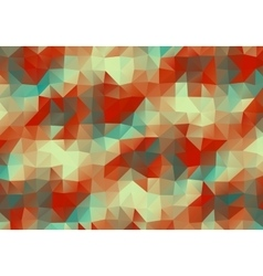 Vintage Multicolor Abstract triangle background vector image