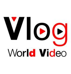 Vlog logo flat style vector