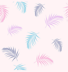 wallpaper tropical candy-color palm leaves vector image