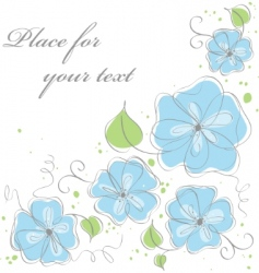 cute blue vector floral background vector image