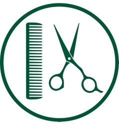 green hairdresser sign vector image vector image