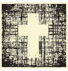 grunge cross vector image vector image