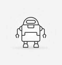 outline robot minimal icon or symbol vector image vector image
