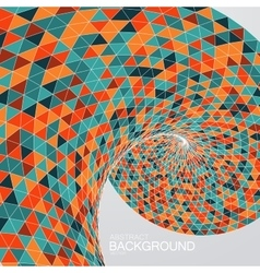 3d abstract polygonal twisted background vector image