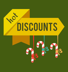 hot discounts christmas time vector image