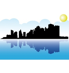 Manhattan skyline vector image
