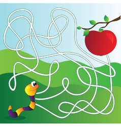 Maze Labyrinth education Game for Children vector image vector image