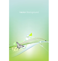 Spring card background vector image vector image