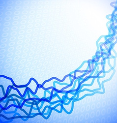 Abstract graph lines vector image
