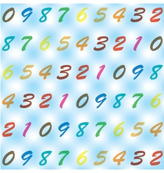 Background from digits vector image
