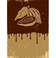 Chocolate retro vector image vector image