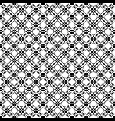 creative black and white flora pattern background vector image vector image