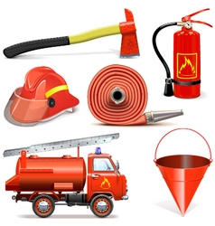 Fire prevention icons vector