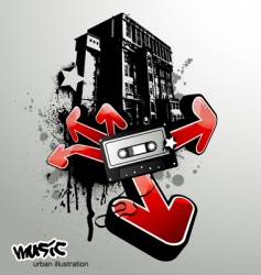 urban music illustration vector image