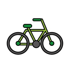 Bicycle drawing isolated icon vector