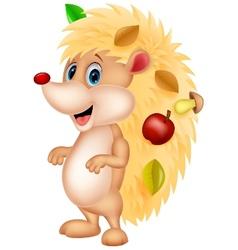 Cute hedgehog cartoon vector image vector image