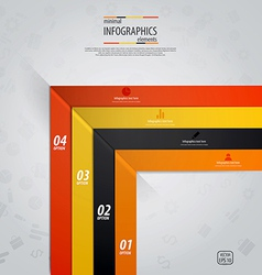 line infographics 4 vector image vector image