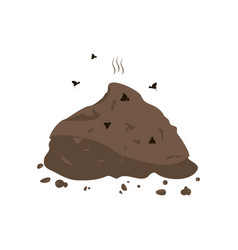 manure and flies icon vector image