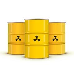 metal barrels vector image