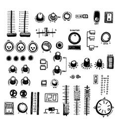 mixer buttons vector image