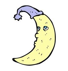 sleepy moon comic cartoon vector image