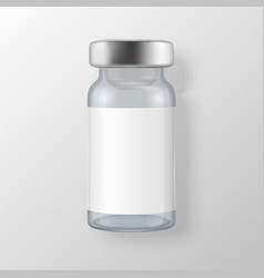 3d realistic bottle vaccine icon closeup vector