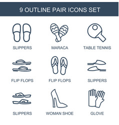 9 pair icons vector