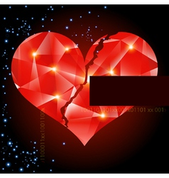 Abstract background with heart-digital art vector