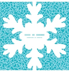 Abstract underwater plants Christmas snowflake vector