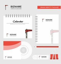 axe logo calendar template cd cover diary and usb vector image