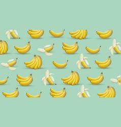 banana background 3d style banana vector image