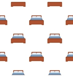 Bed icon in cartoon style isolated on white vector