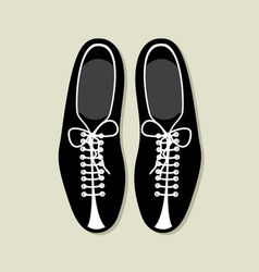 Bowling shoes vector