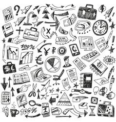 Business - big doodles set vector image