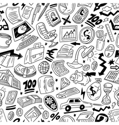 business - seamless pattern vector image