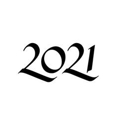 calligraphy for 2021 new year ox vector image
